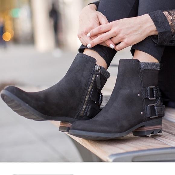 bbf7096cf3253 Sorel Lolla Waterproof Leather Bootie - Black. M 5af10b272c705d1b58851fcb